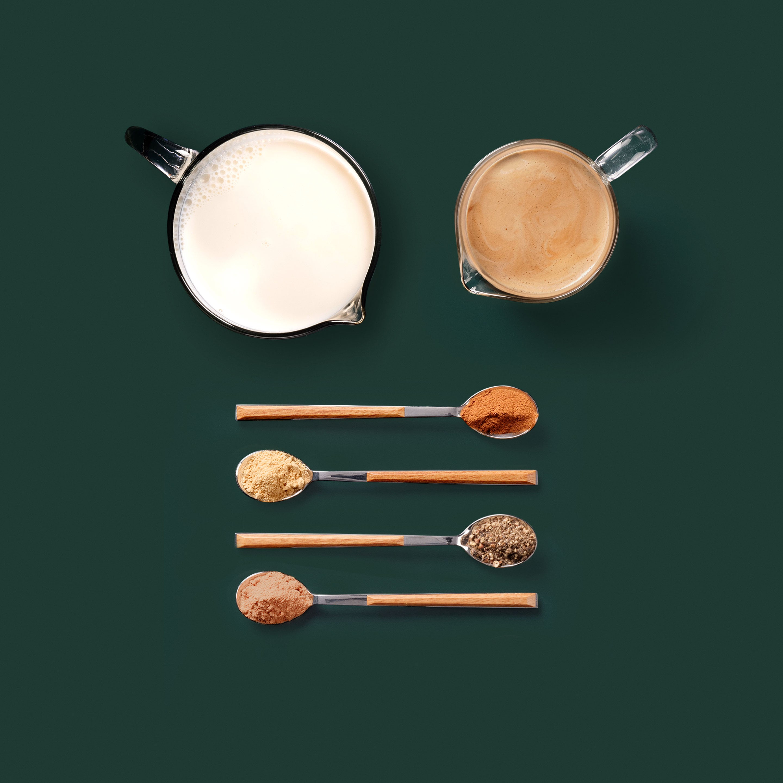 Spiced Espresso Flat White Kaffee