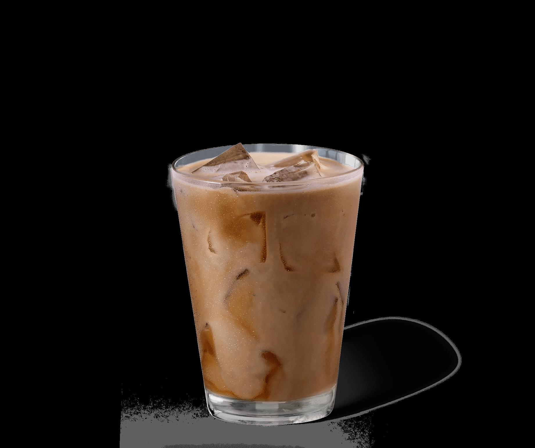Iced Latte Kaffee im Glas