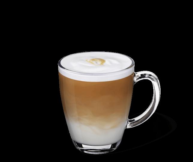 Starbucks® Latte Macchiato in einer transparenten Tasse