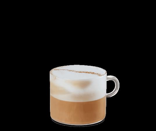Cappuccino im transparenten Becher