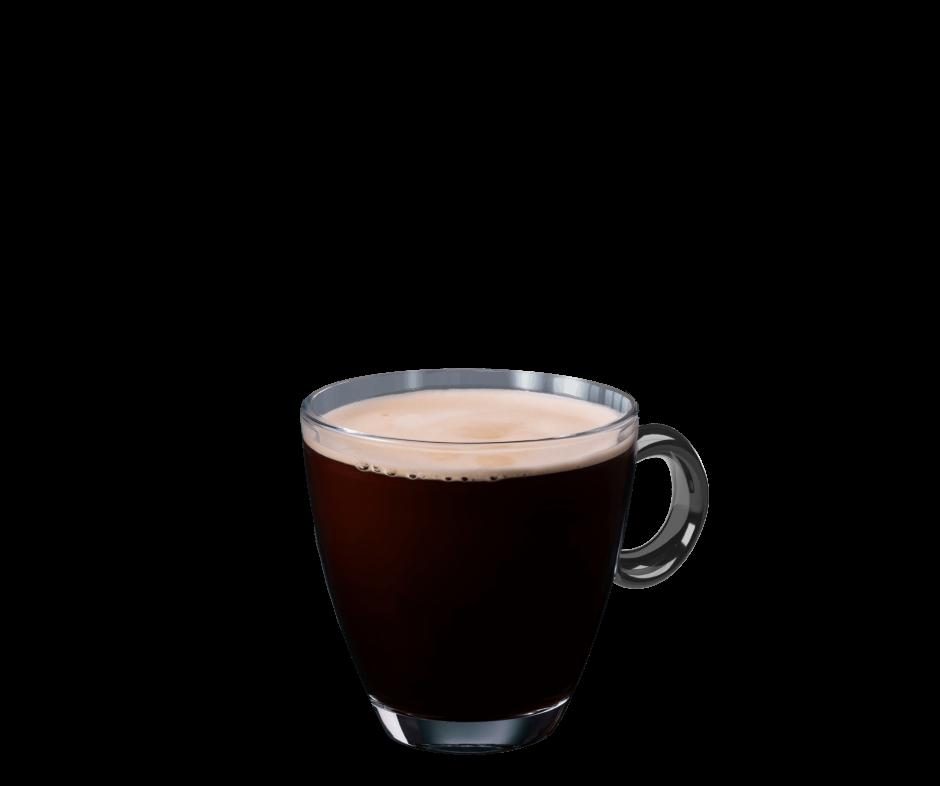 Caffe Americano im transparenten Becher