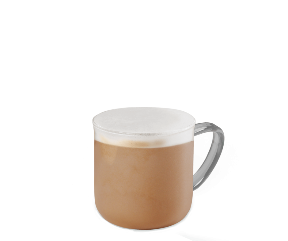 Blonde Vanilla Latte Kaffee im transparenten Becher
