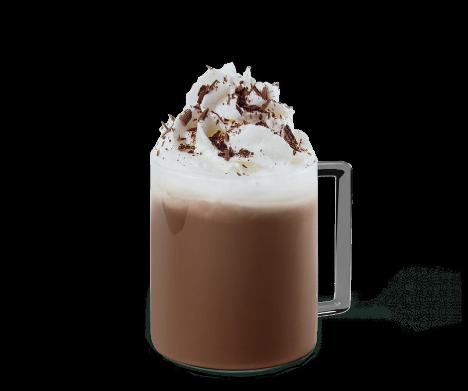 Caffe Mocha mit Sahne in der Tasse