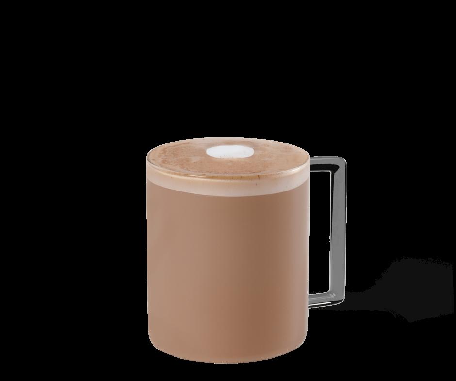 Spiced Espresso Flat White im transparenten Becher