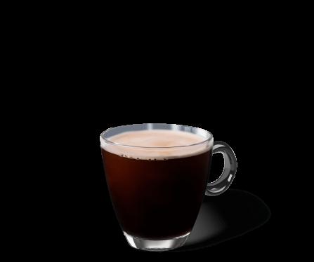 Caffe Americano im Kaffeeglas