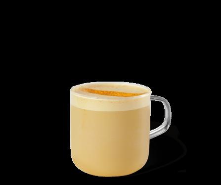 Golden Turmeric Latte Kaffee im Becher