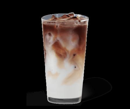 Iced Caramel Macchiato Kaffee im Glas