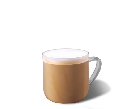 Vanilla Latte Kaffee im Becher