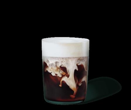 Iced Caramel Latte & Vanille Cream im Glas