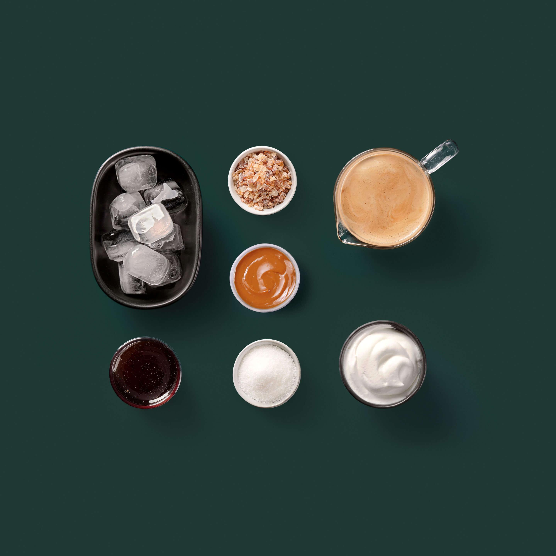 Iced Caramel Latte with Vanilla Cream