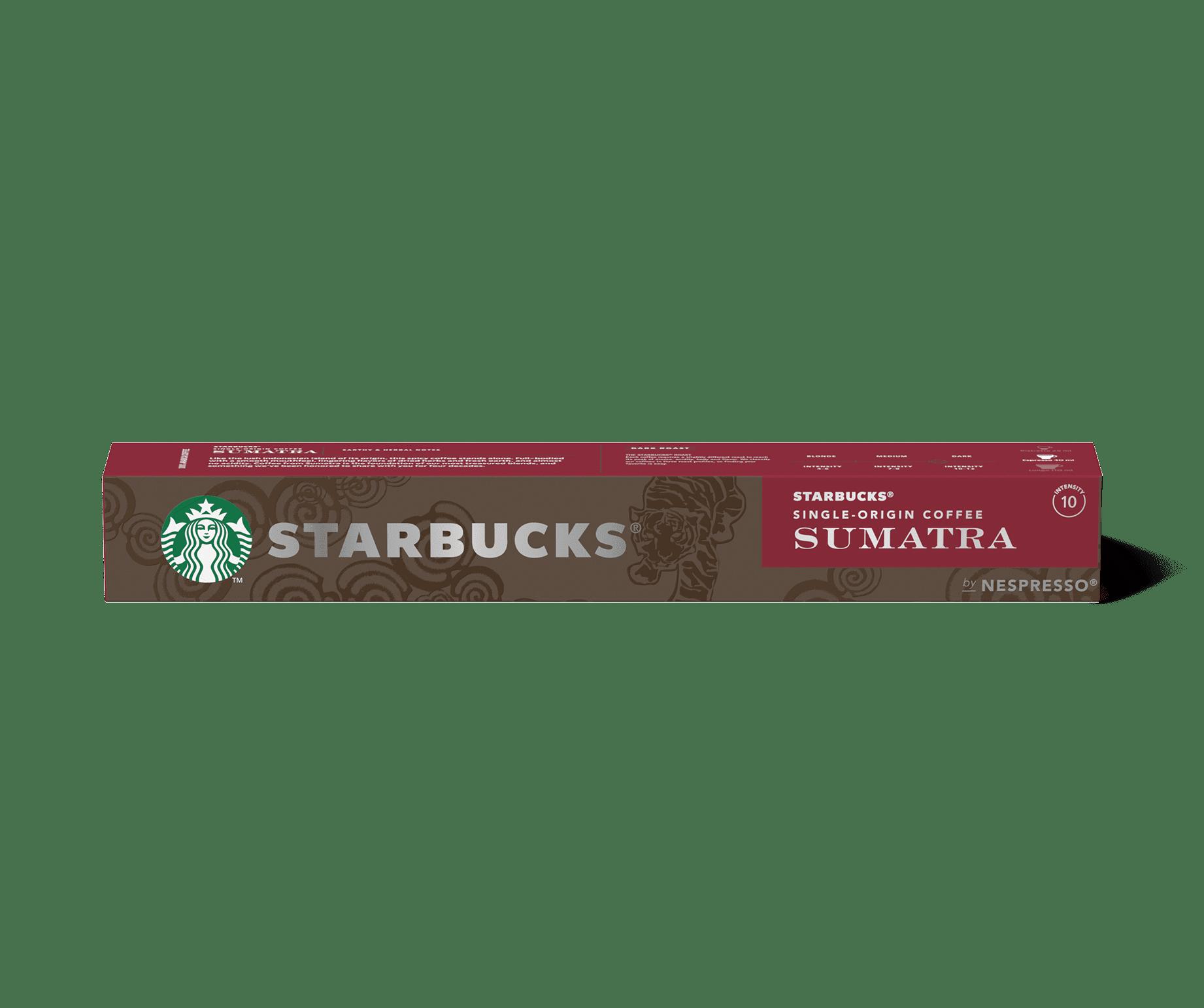 STARBUCKS® Single Origin Sumatra by NESPRESSO® Dark Roast Coffee