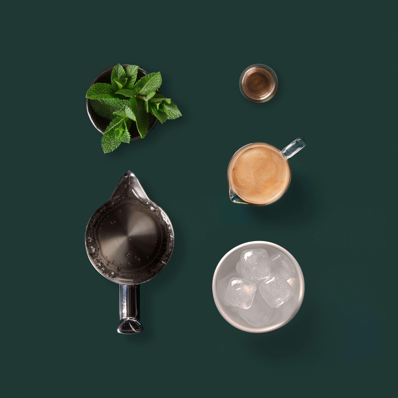 Sparkling espresso with mint