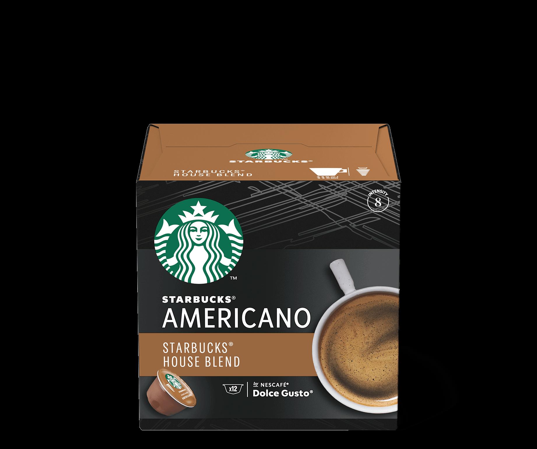 Confezione Capsule Starbucks House Blend Americano by Nescafé DolceGusto