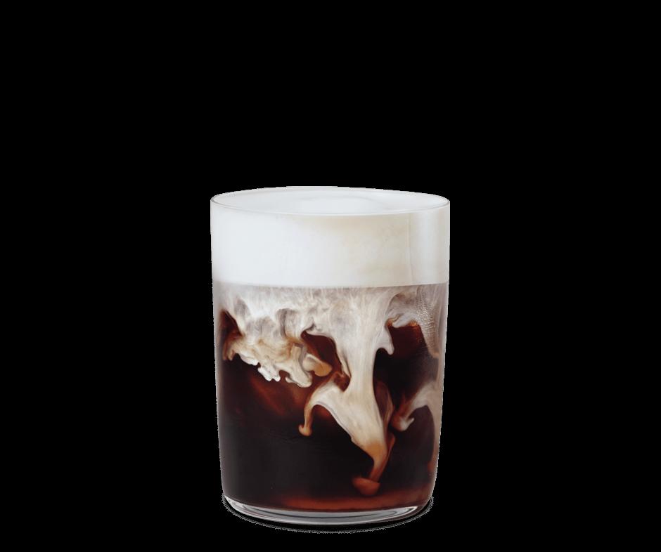 Tazza di Iced Caramel Latte Vanilla Cream Starbucks-min