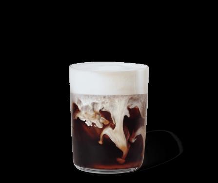Tazza di Iced Caramel Latte & Vanilla Cream Starbucks