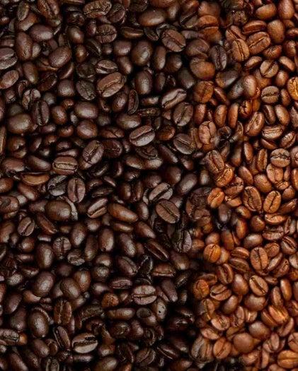 Chicchi di caffè in grani