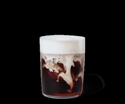 Kall karamellatte och vaniljglass